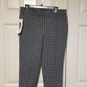 Hilary Radley Pants Black & Ivory
